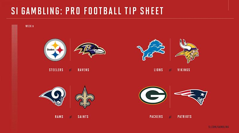 graphic regarding Nfl Week 2 Schedule Printable titled Weekly Suggestion Sheet: The In depth Printable Betting Specialist in the direction of