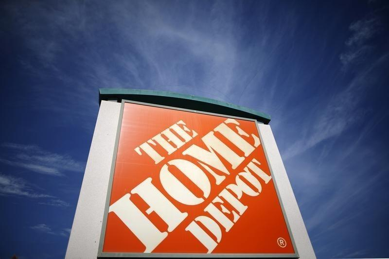 A Home Depot store is seen in Los Angeles