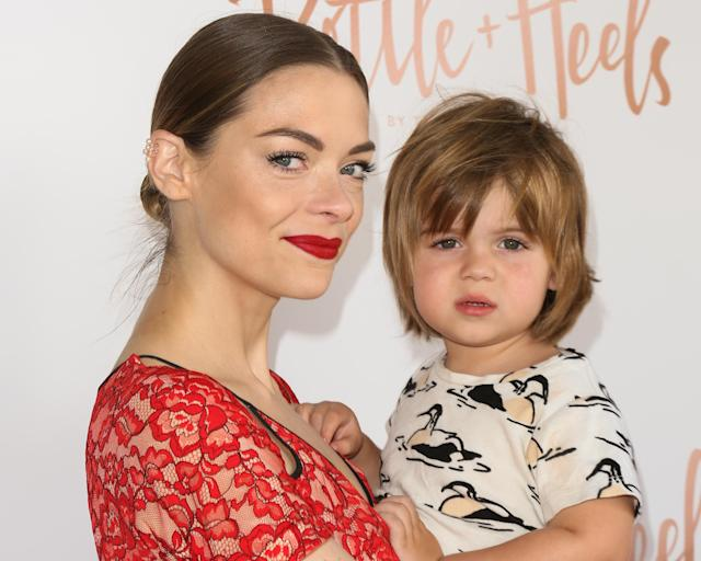 Jaime King with her 4-year-old son, James. (Photo: Getty)
