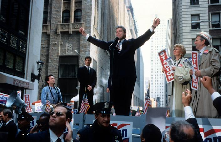 """FeaturingJohn Travolta as a charismatic Southern governor running for president while mired in allegations of infidelity, this darkly comedic 1998 movie bears more than a passing resemblance to the campaign of a certain former president. <br /><br />Based on a novelby veteranpolitical reporterJoe Klein, """"Primary Colors""""is uneven at times -- some of the jokes don't totally land and some of the actinglooks cartoonish. But it definitely delivers on the '90s political nostalgia, and its depiction of politics as an ugly and thankless blood sport paved the way for TV shows like """"House of Cards."""" Bonus: Look for the tough-as-nailspolitical operative played by Kathy Bates, who makes every movie better."""