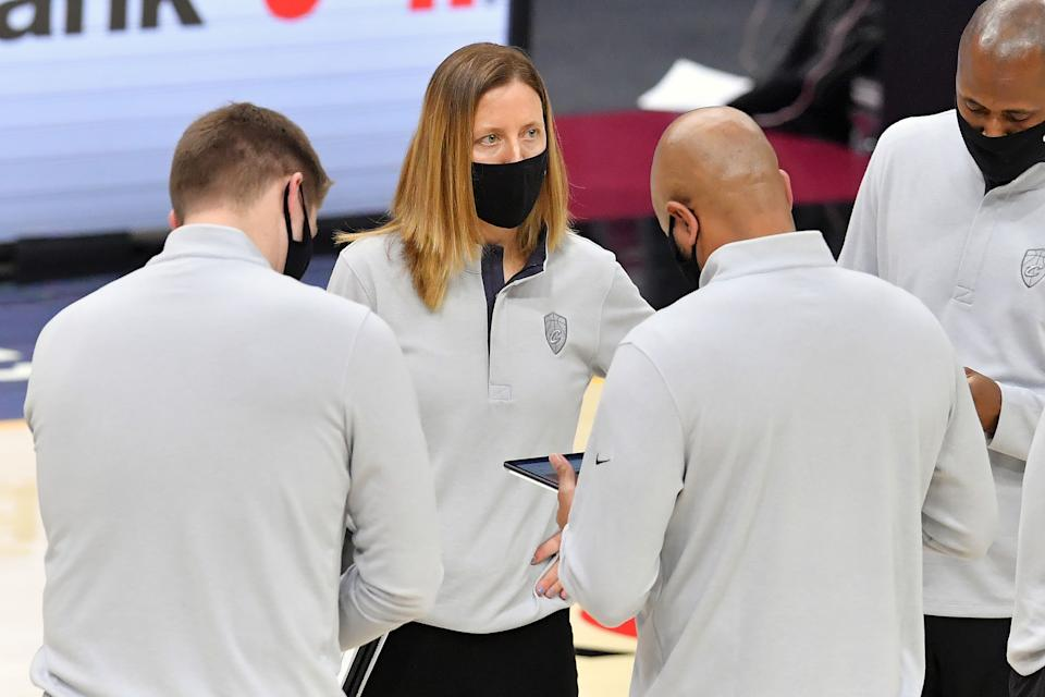 Assistant coach Lindsay Gottlieb of the Cleveland Cavaliers
