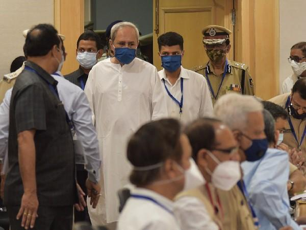 Odisha CM Naveen Patnaik during the LWE review meeting in Delhi on Sunday.