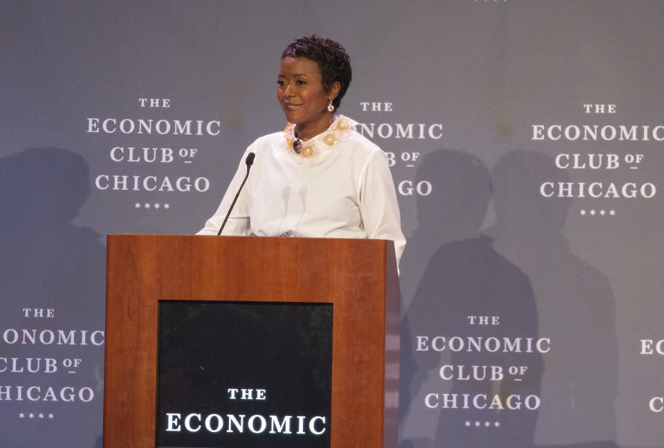 CHICAGO, IL - DECEMBER 06:  Chair of The Economic Club of Chicago Mellody Hobson during the Economic Club of Chicago Dinner Meeting at Hilton Chicago on December 6, 2018 in Chicago, Illinois.  (Photo by Barry Brecheisen/WireImage)