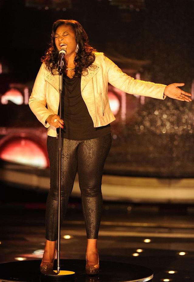 "Candice Glover performs ""Don't Make Me Over"" on the Wednesday, April 10 episode of ""American Idol."""