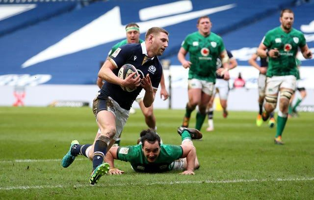 Finn Russell scored a fortuitous try