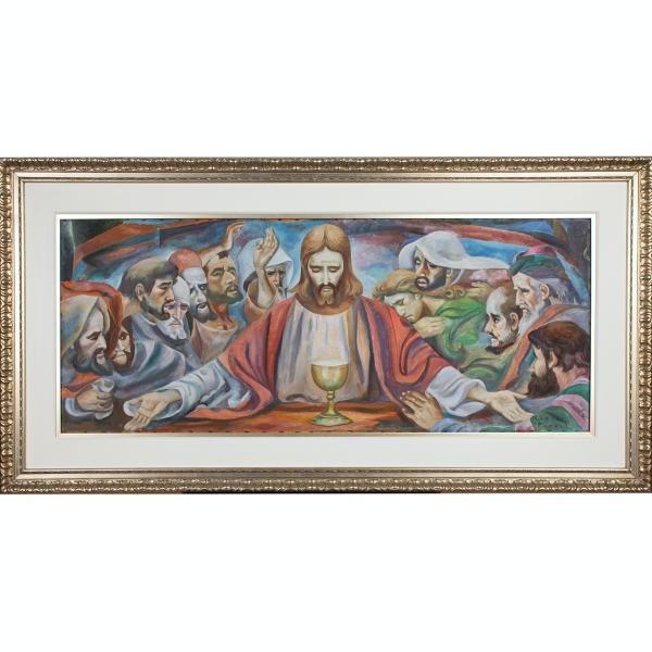'Last Supper', Botong Francisco, 1969, oil on canvas