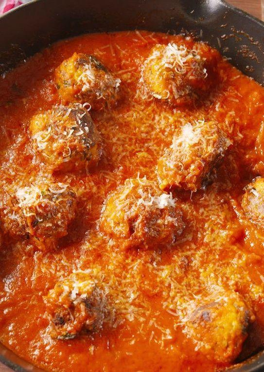 """<p>You won't miss the meat in these vegetarian """"meatballs.""""</p><p>Get the recipe from <a href=""""https://patty-delish.hearstapps.com/cooking/recipe-ideas/recipes/a48034/zucchini-meatballs-recipe/"""" rel=""""nofollow noopener"""" target=""""_blank"""" data-ylk=""""slk:Delish"""" class=""""link rapid-noclick-resp"""">Delish</a>.</p>"""