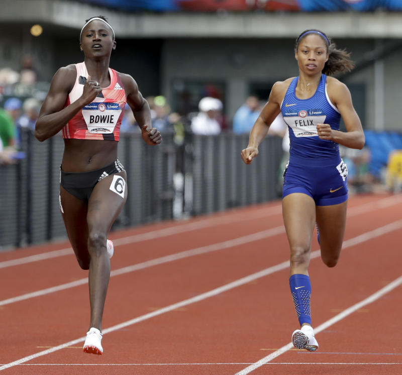 Allyson Felix misses her chance to double in Rio