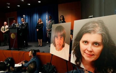 The Turpin parents have pleaded not guilty to charges of turture - Credit: Damian Dovarganes/Damian Dovarganes Source: AP