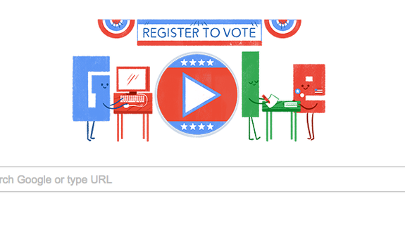 Google will help you register to vote with a new 'Doodle'