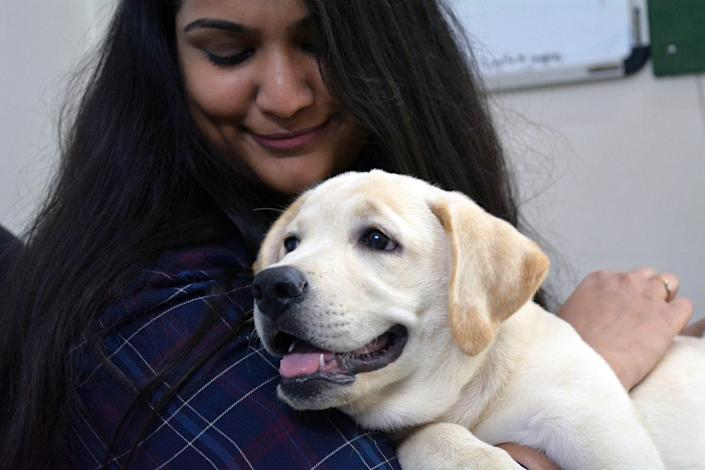 Anushka Iyer, Founder and CEO of Wiggles, with her pet pup