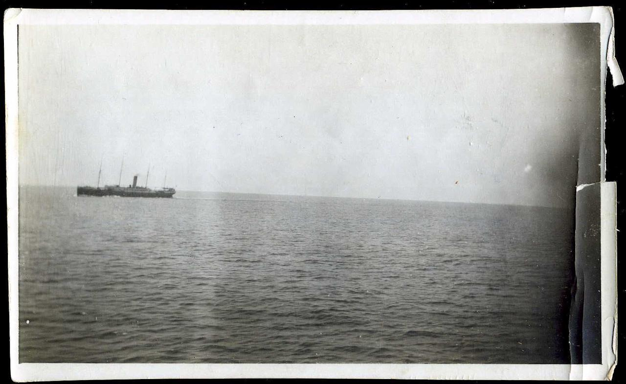 "<span style=""font-family:Arial;"">An original photo taken from the deck of the Carpathia shows another rescue ship, the</span><span style=""font-family:Arial;""> S. S. Californian, approaching. </span><br><span style=""font-family:Arial;""><br></span>(Photo courtesy of <a target=""_blank"" href=""http://www.weissauctions.com/"">Phillip Weiss Auctions</a>)"
