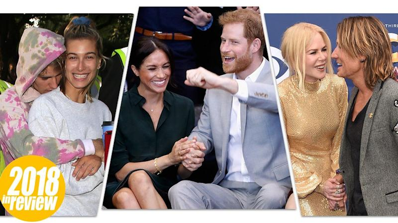 From Meghan Markle and Prince Harry to Justin Bieber and Hailey Baldwin: The 13 Sweetest Couples of 2018