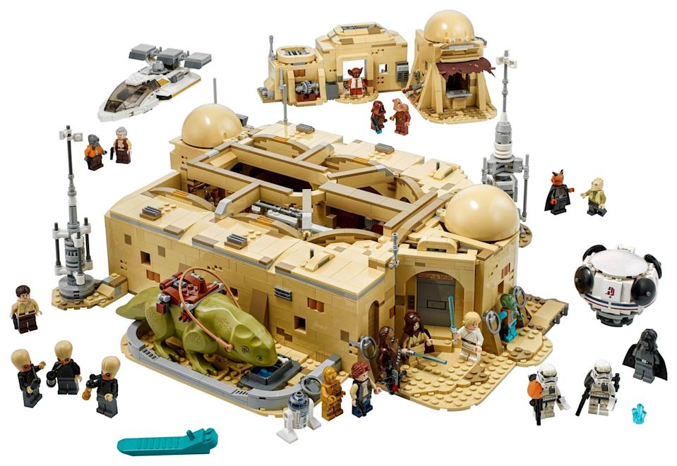 <p>The <span>Lego Star Wars Mos Eisley Cantina Set</span> ($350, available Oct. 1) has 3,187 and is aimed at teens ages 18 and up (though you could probably tackle this one with your kids, they'll just need a hand!).</p>