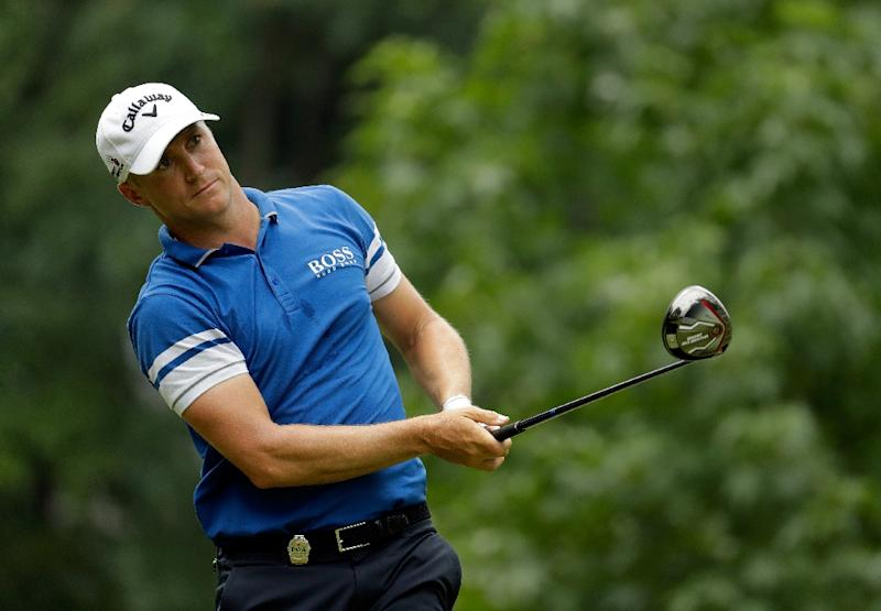 Alex Noren competes in the 2016 PGA Championship on July 30, 2016 in Springfield, New Jersey