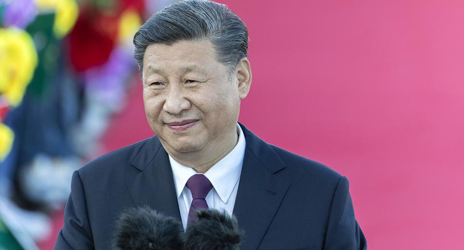 Xi Jinping, China's president, delivers a speech after arriving at Macau International Airport in Macau, China, on Wednesday, Dec. 18, 2019. PresidentXi is expected to use a visit marking 20 years of Chinese rule over Macau this week to send a message to the protest-stricken financial hub some 50 kilometers (30 miles) to the east: work with us and get rich. Photographer: Justin Chin/Bloomberg via Getty Images