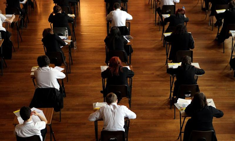 School students taking their exams
