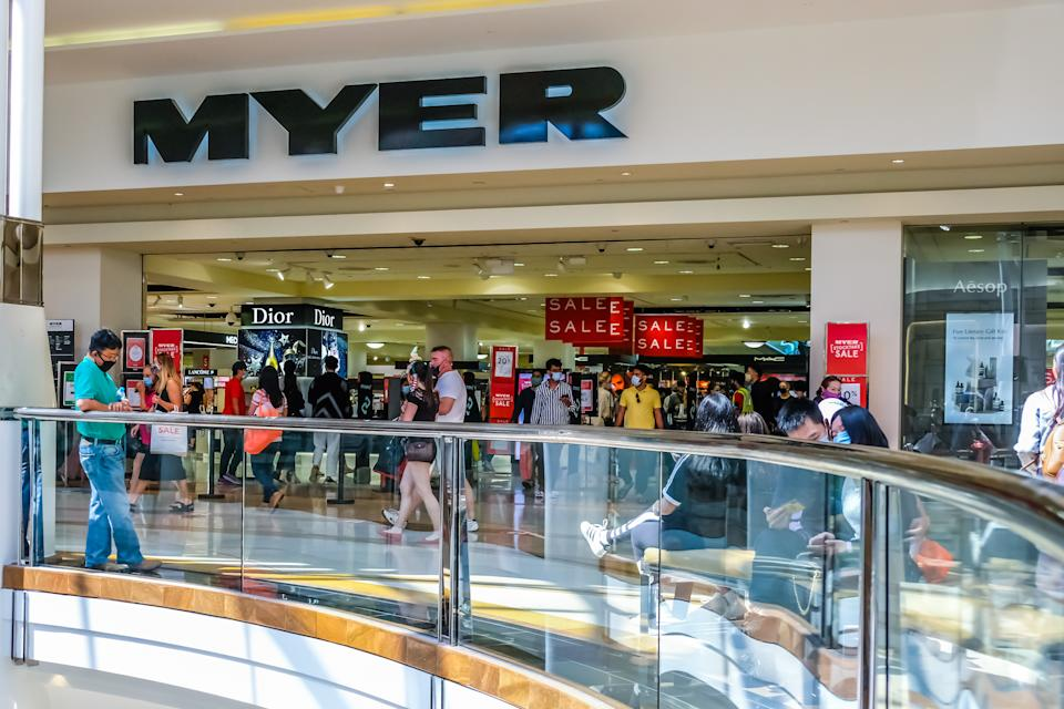 Myer department store. Photo: Getty Images