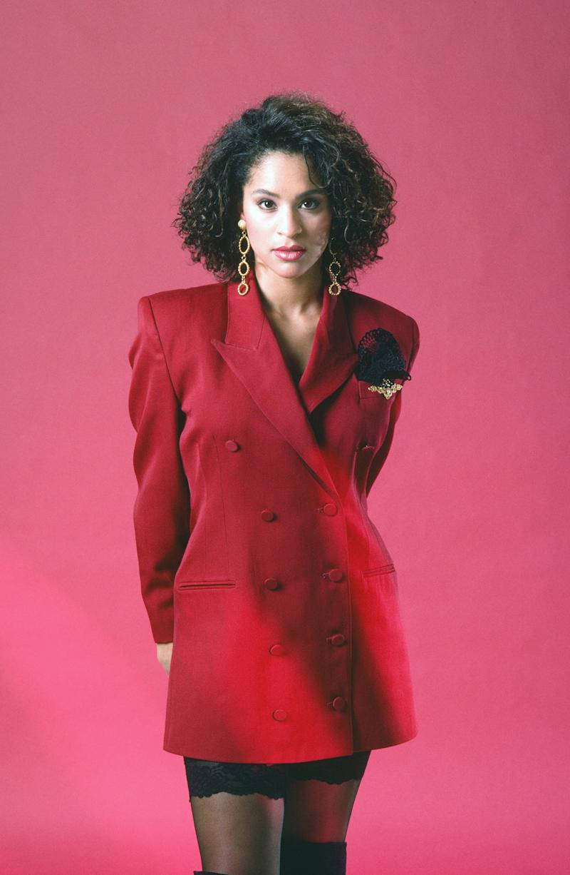 THE FRESH PRINCE OF BEL-AIR -- Season 1 -- Pictured: Karyn Parsons as Hilary Banks -- (Photo by: Gary Null/NBCU Photo Bank/NBCUniversal via Getty Images)