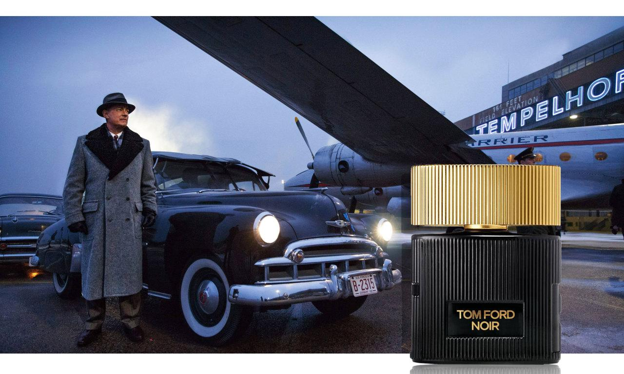 "<p>Musky and dark, Tom Ford's <b>Noir</b> captures the suspicious premise of the 1960 U-2 incident depicted in <i>Bridge of Spies</i>.<br /></p><p><i>Tom Ford Noir Pour Femme EDP, $80, <a href=""http://www.tomford.com/tom-ford-noir-pour-femme-edp/T2RY.html"">tomford.com</a>. (Photo: Walt Disney Studios)</i><br /><br /></p>"