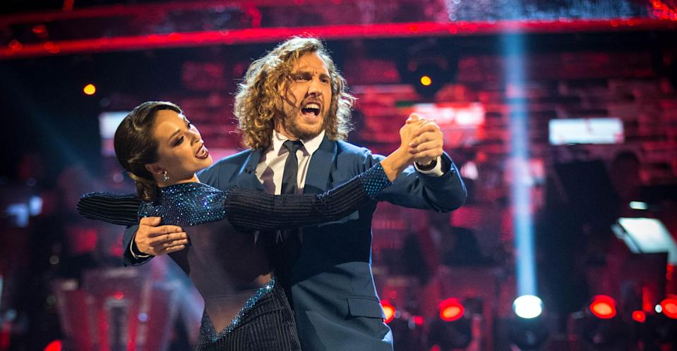 Seann Walsh and Katya Jones are the latest to be hit by the Strictly curse. (BBC Pictures)