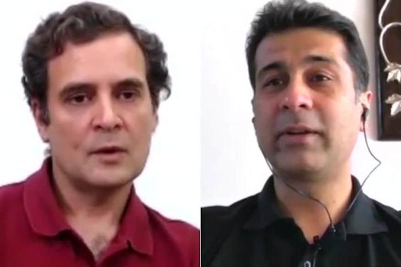Everyone on Twitter is Cracking the Same Joke After Rahul Gandhi Interviewed Rajiv Bajaj