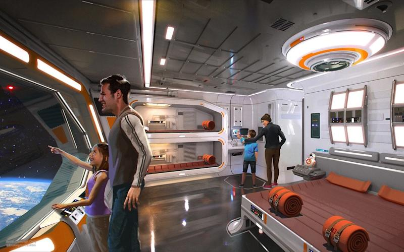 Disney is building a Star Wars-themed hotel in the form of a starship at one of its Orlando resorts. - Disney