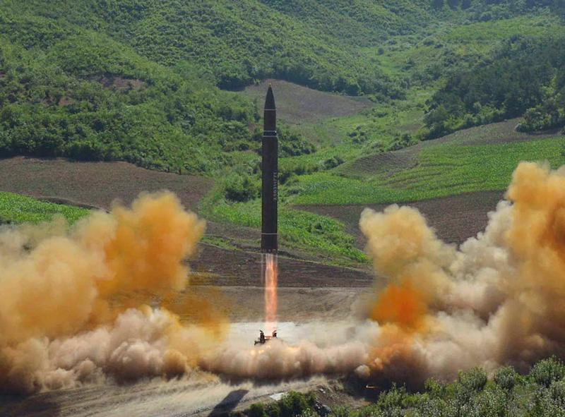 N.Korea fires missile into sea off east coast, possibly an ICBM