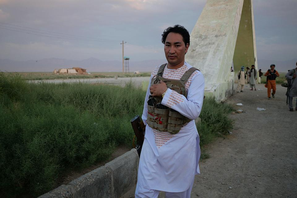 Rauof Aliyar, a member of Abbas Ibrahim Zada's mitilia, has been fighting on the front line at Siahgerd, north of Mazar-i-Sharif, for one month. He has risked his job with local NGO to protect his city (Charlie Faulkner)