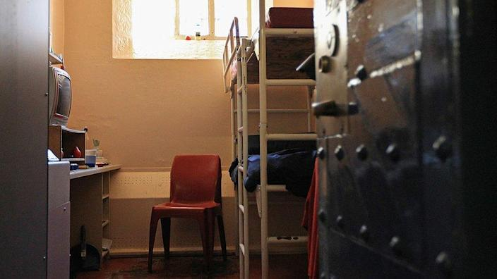 A view inside a cell at HMP Barlinnie, Scotland's largest prison
