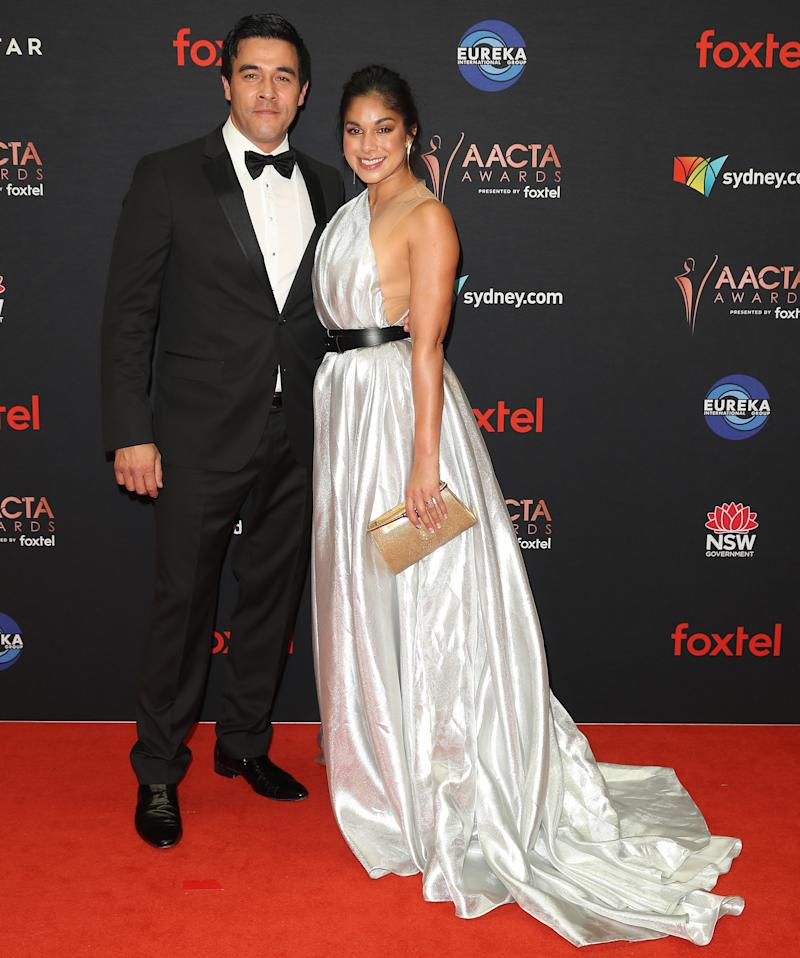 James Stewart and Sarah Roberts at the AACTAs