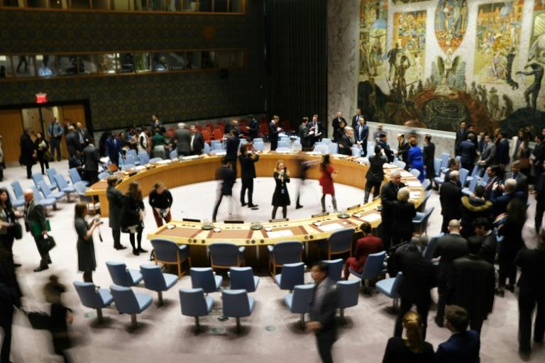 The UN Security Council gathers for a vote