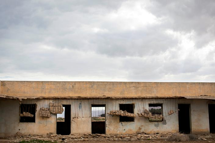 A part of a structure is seen in a former Jordanian military base near the Dead Sea in the Israeli-occupied West Bank, March 26, 2019. The building was deserted following the 1967 Six Day War when Israel captured the area from Jordan. (Photo: Ronen Zvulun/Reuters)