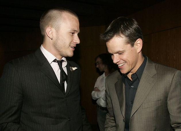 Damon and Ledger pictured together at the premiere of
