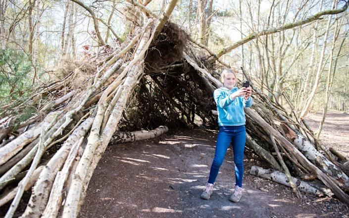 Eilidh Hawkings aged 10 at Charlie's Den - SWNS
