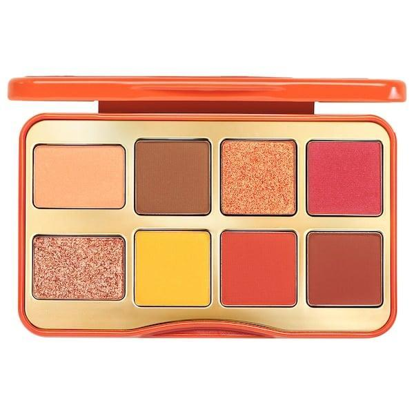 <p>This hot <span>Too Faced Mini Light My Fire Eye Shadow Palette</span> ($27) features warm, highly pigmented shades, and each color smells like cinnamon, too.</p>