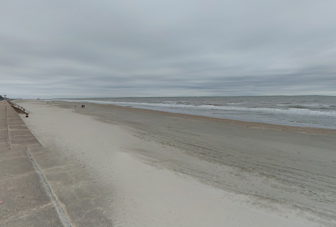 The beach in Galveston, Texas. Residents are encouraged to take caution due to the return of flesh-eating bacteria lurking in the water. (Google)