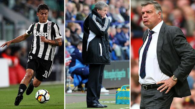 Paulo Dybala is a target for the big fish while Crystal Palace are reportedly targeting Roy Hodgson or Sam Allardyce