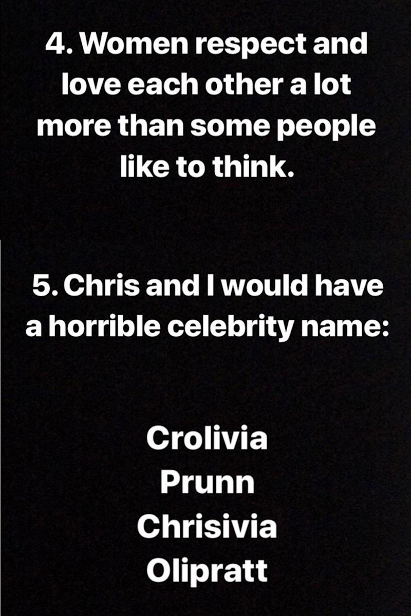 Olivia Munn shared the points to Twitter as well as Instagram (Twitter / Olivia Munn)
