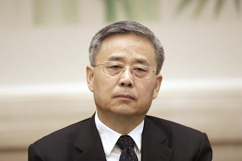 Guo Shuqing, chairman of the China Banking and Insurance Regulatory Commission, attends a news conference at the Great Hall of the People during the 19th National Congress of the Communist Party of China in Beijing on Thursday, Oct. 19, 2017. Photo: Bloomberg