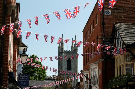 Windsor streets are decorated in bunting to celebrated the royal wedding