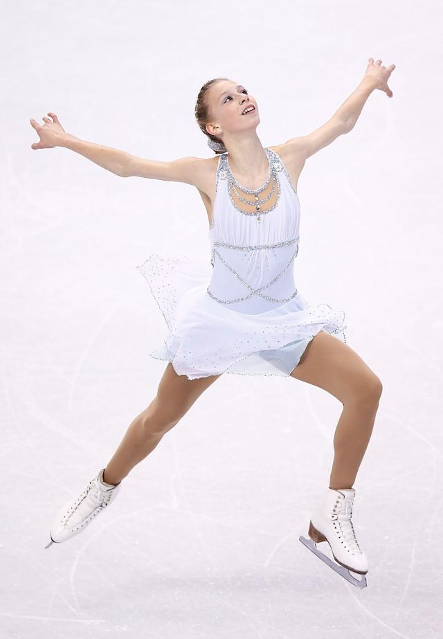 Polina Edmunds competes in the free skate program during the 2014 Prudential U.S. Figure Skating Championships at TD Garden on January 11, 2014 in Boston, Massachusetts. (Photo by Jared Wickerham/Getty Images)