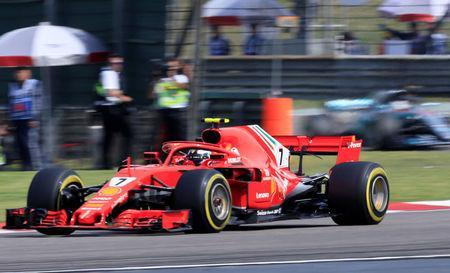 Formula One F1 - Chinese Grand Prix - Shanghai International Circuit, Shanghai, China - April 15, 2018 Ferrari's Kimi Raikkonen in action REUTERS/Aly Song