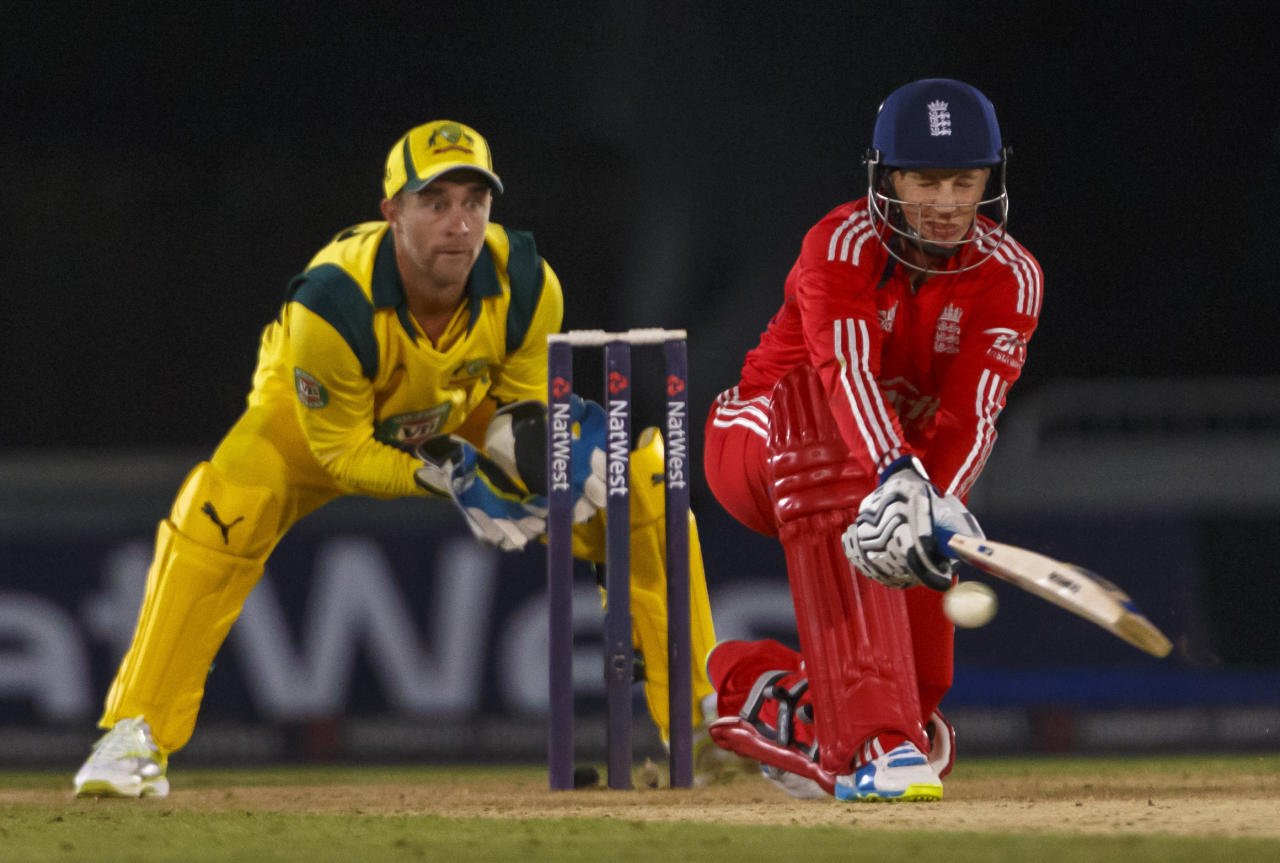 England's Joe Root during the International Twenty20 match at the Ageas Bowl, Southampton.