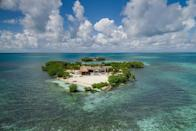 """<h3><strong><a rel=""""nofollow noopener"""" href=""""https://www.vrbo.com/1122379"""" target=""""_blank"""" data-ylk=""""slk:Gladden Island, Belize"""" class=""""link rapid-noclick-resp"""">Gladden Island, Belize</a></strong></h3> <p>Talk about the ultimate romantic getaway: This ultra-secluded speck of land is built for two with all of the amenities of a luxury resort. Situated in the Belize Barrier Reef System, Gladden Island is surrounded by sweeping views of aqua seas and perched on the edge of one of the most picturesque parts of the reef. Spend your days exploring the wildest parts of the waters on dive and snorkeling trips. Back at home, your personal concierge can schedule spa treatments and local meals prepared by celebrated guest chefs. <i>Rates from $3,073 per night.</i></p>"""
