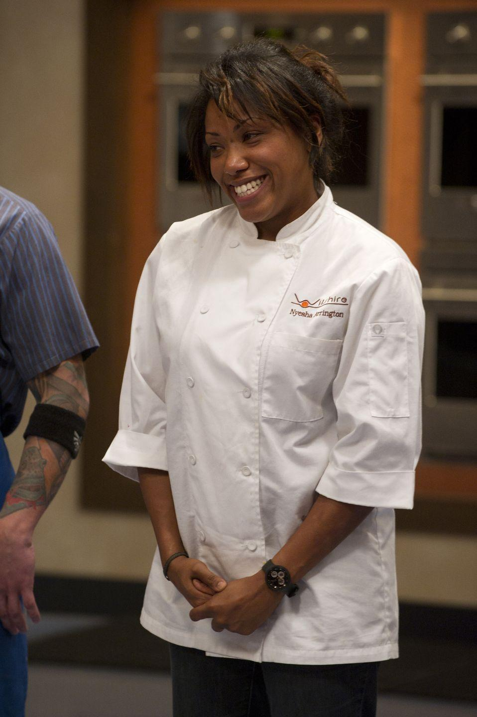 <p>Nyesha Arrington appeared on season nine of <em>Top Chef</em>. Even though the talented Los Angeles-based chef didn't win, she was one of audience's favorite to watch. </p>
