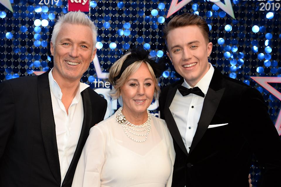 LONDON, ENGLAND - MARCH 07: (L-R) Martin Kemp, Shirley Kemp and Roman Kemp attend The Global Awards 2019 at Eventim Apollo, Hammersmith on March 07, 2019 in London, England. (Photo by Jeff Spicer/Getty Images)