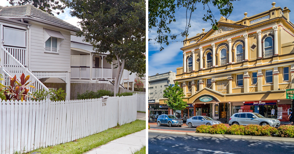 A street in Graceville, QLD and the main strip in Orange, NSW.