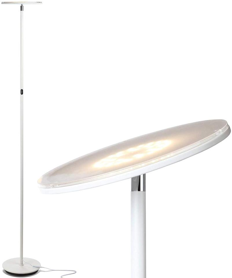 """<p>""""The <a href=""""https://www.popsugar.com/buy/Brightech-Sky-LED-Torchiere-Super-Bright-Floor-Lamp-509825?p_name=Brightech%20Sky%20LED%20Torchiere%20Super%20Bright%20Floor%20Lamp&retailer=amazon.com&pid=509825&price=70&evar1=casa%3Aus&evar9=46105491&evar98=https%3A%2F%2Fwww.popsugar.com%2Fhome%2Fphoto-gallery%2F46105491%2Fimage%2F46836830%2FBrightech-Sky-LED-Torchiere-Super-Bright-Floor-Lamp&list1=shopping%2Camazon%2Cproduct%20reviews%2Chome%20shopping&prop13=mobile&pdata=1"""" rel=""""nofollow"""" data-shoppable-link=""""1"""" target=""""_blank"""" class=""""ga-track"""" data-ga-category=""""Related"""" data-ga-label=""""https://www.amazon.com/gp/product/B01KMWCNBY/ref=oh_aui_detailpage_o08_s00?ie=UTF8&amp;th=1&amp;tag=popsugarshopx-20"""" data-ga-action=""""In-Line Links"""">Brightech Sky LED Torchiere Super Bright Floor Lamp</a> ($70) is thin and the light points upward so you never feel like you're looking into a bulb. Speaking of which, this lamp is powered by LED lights, so you'll never actually have to change the bulb, and it never gets too hot to touch. Just plug it into the wall and you're good to go. The lamp comes with a dimmer, so you can adjust the lighting based on your mood. It's also crazy-easy to put together. Like, done-in-five-minutes easy."""" - India Yaffe, assistant editor, Shop</p>"""