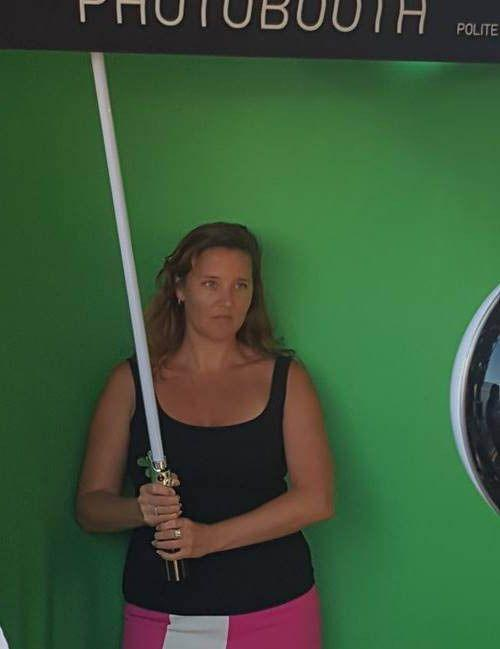 I take my green-screen snaps seriously... Photo: Allison Wallace